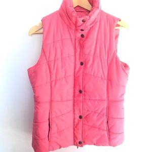NEW YORK & COMPANY Pink Puff Vest Size M